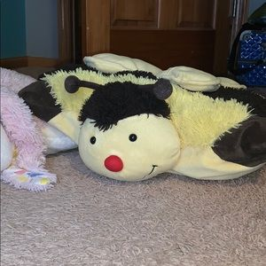 Other - THREE pillow pets bunny, bee, and zebra